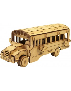 ALBUM SCHOOL BUS CON MAQUETA 3D 3 PL.