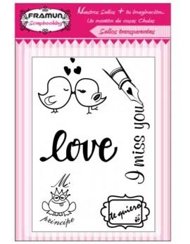 SELLO TRANSPARENTE MOD. LOVE4