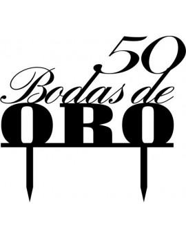 TOPPER BODAS DE ORO
