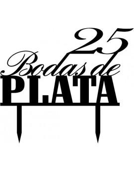 TOPPER BODAS DE PLATA