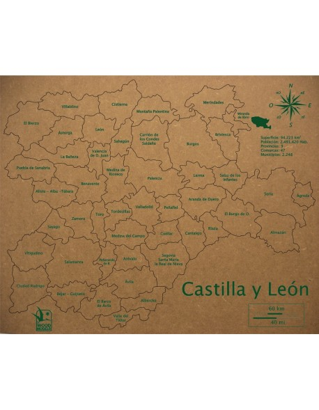 ROMPECABEZAS COMARCAS DE CASTILLA-LEON 300x370